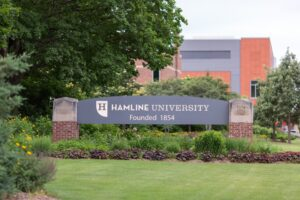 Hamline University sign